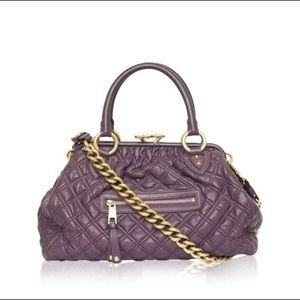 MARC JACOBS PURPLE QUILTED LEATHER STAM DOCTOR BAG
